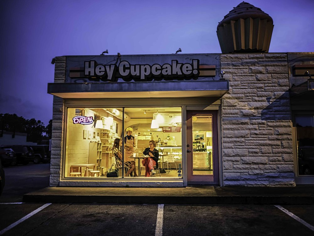Hey Cupcake started as a food trailer, but now has a store on Burnet Road.  And yes the cupcakes are delicious!