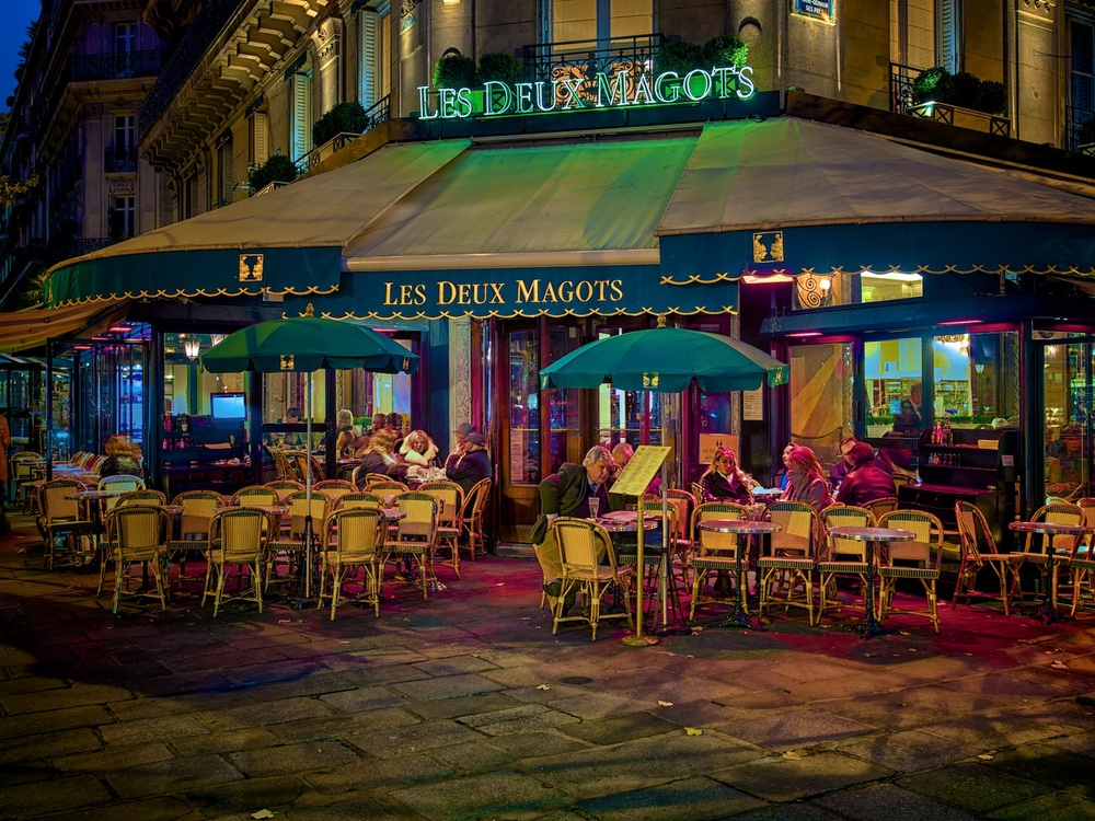 les deux magots cafe in st germain, which is where hemingway and friends used to hang out.