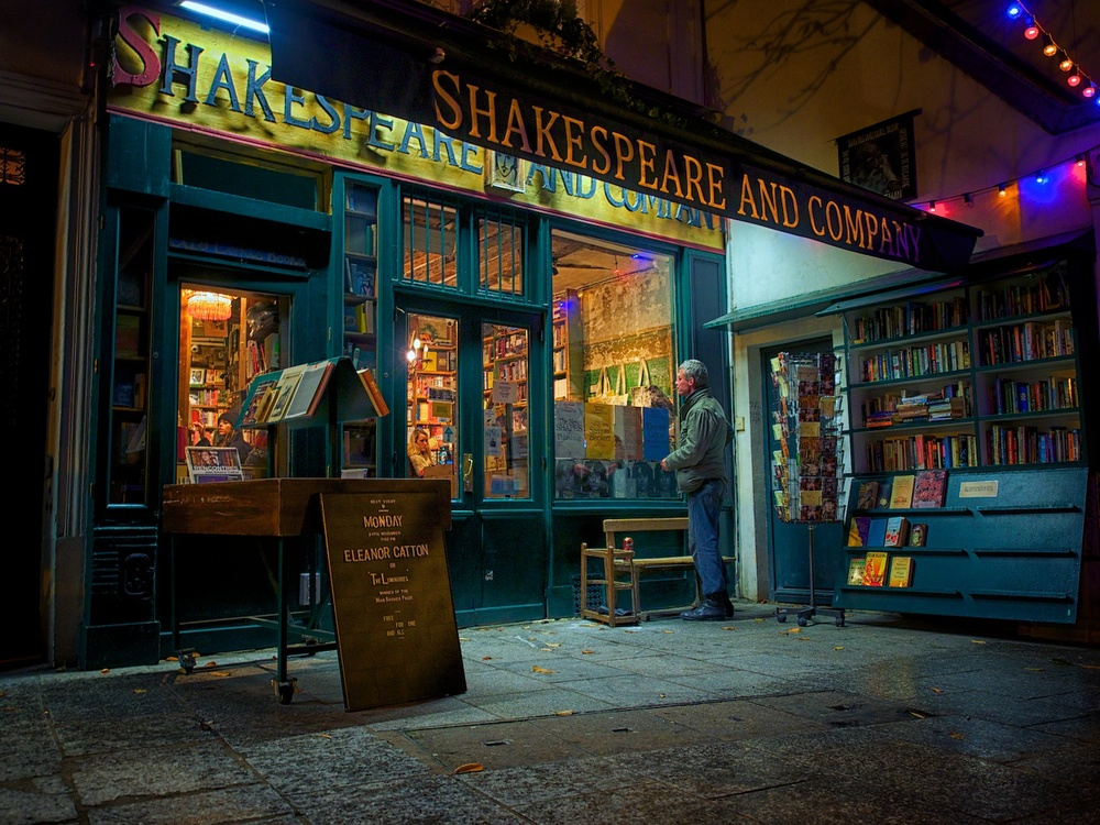 this is shakespeare & co bookstore, which is about 100 yards from notre dame cathedral and well worth a visit!