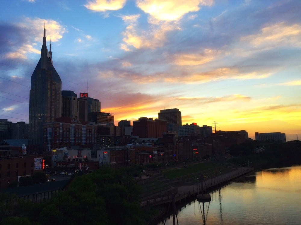 My first night of the trip and I was rewarded with this stunning sunset over Nashville!