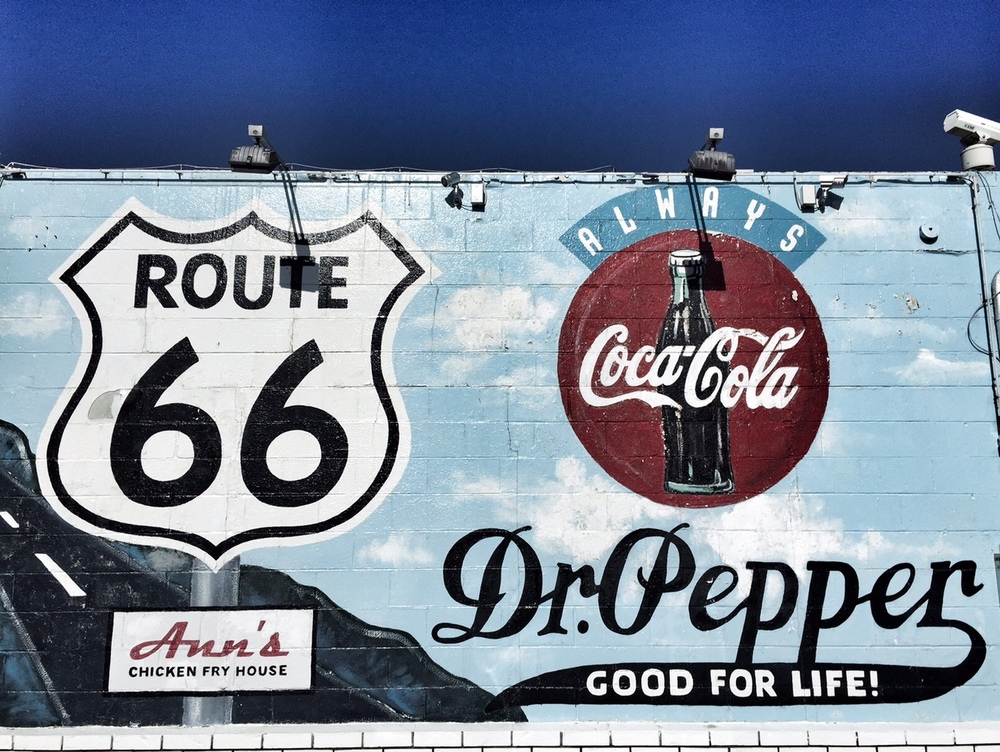 i spent some time driving along route 66 in okc - not a lot of great finds but loved this spot!