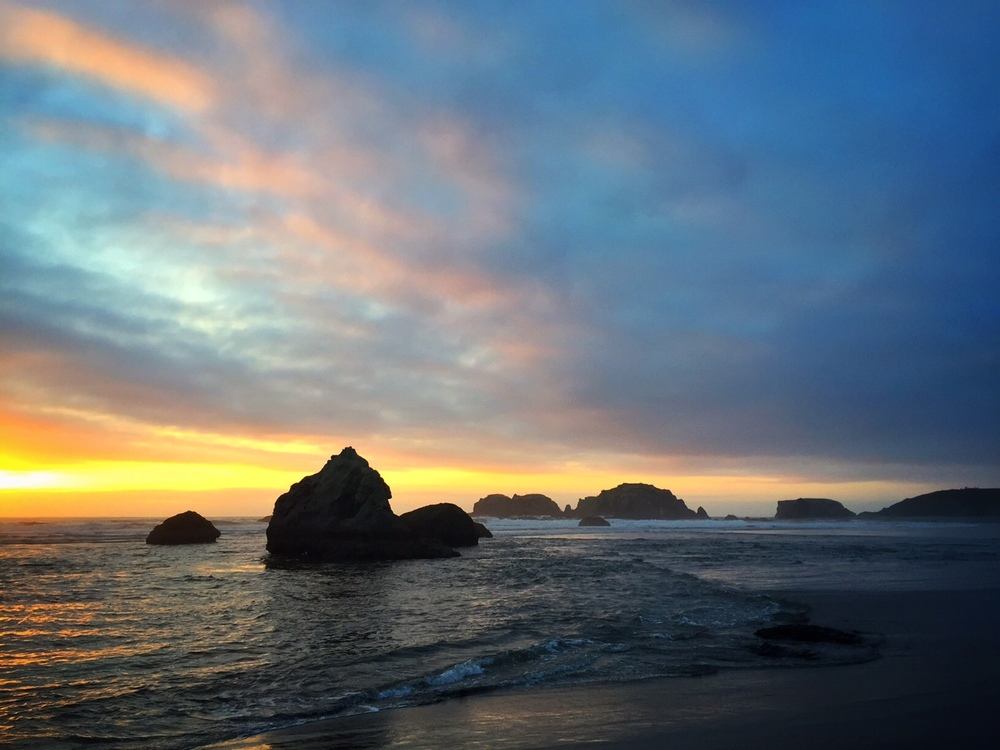 a wonderful sunset in bandon, or that i shot this past Monday evening