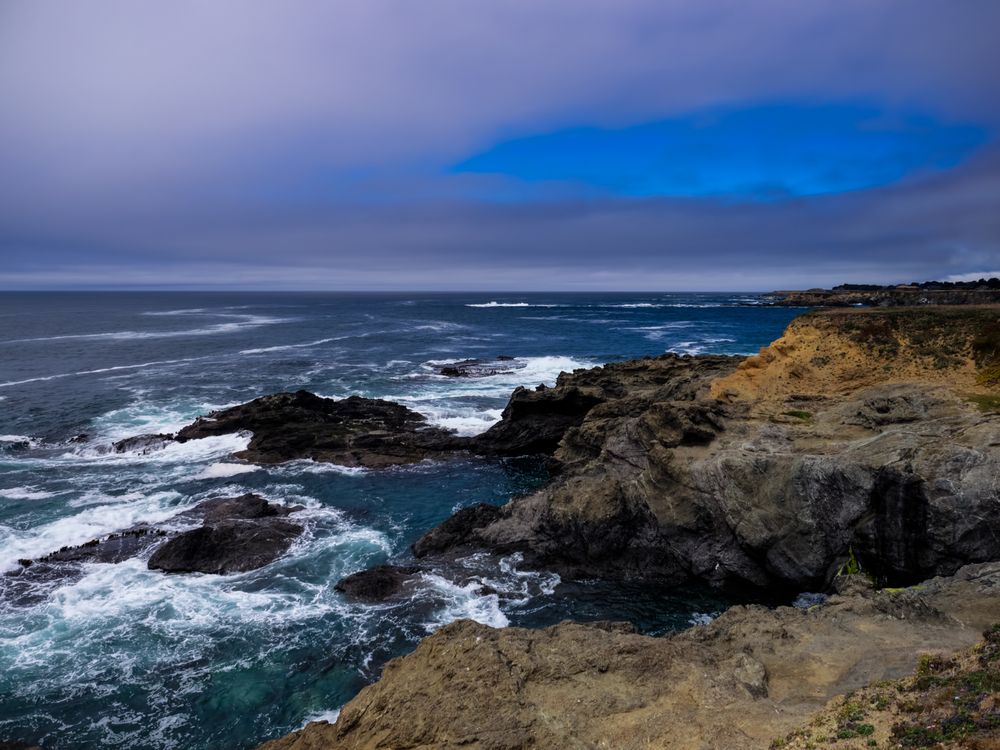 The coastline in Mendocino