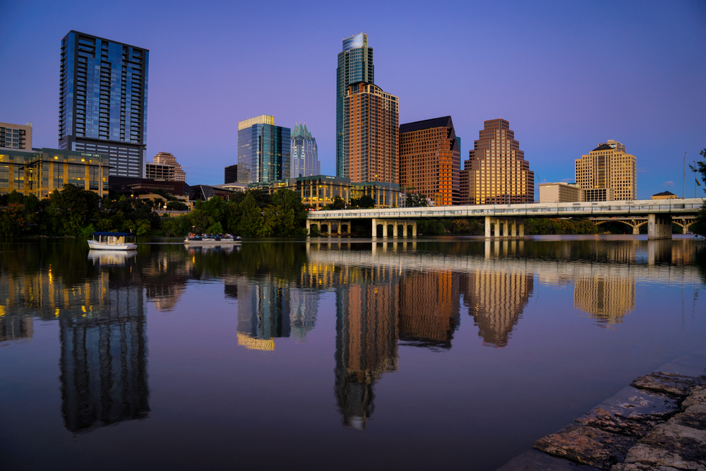 the skyline of austin from auditorium shores - my favorite place to photograph the skyline!