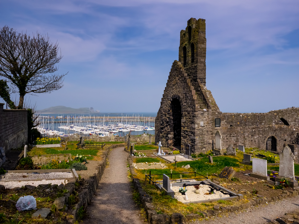 ruins of an old church in howth