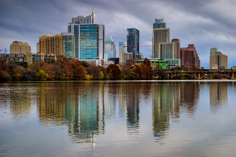 the Austin skyline on a recent wintry, cloudy afternoon
