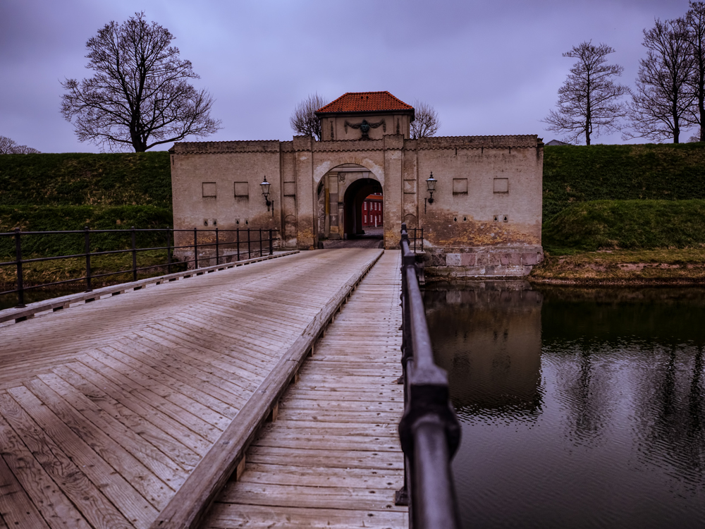 this is the entry to kastellet, which is a historic, star-shaped fortress in town.  Very cool place to explore!