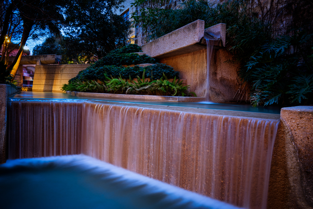 This beautiful waterfall is behind the Hyatt Regency hotel on the Riverwalk.  I find it very beautiful and I pretty much shoot it every time I am there!