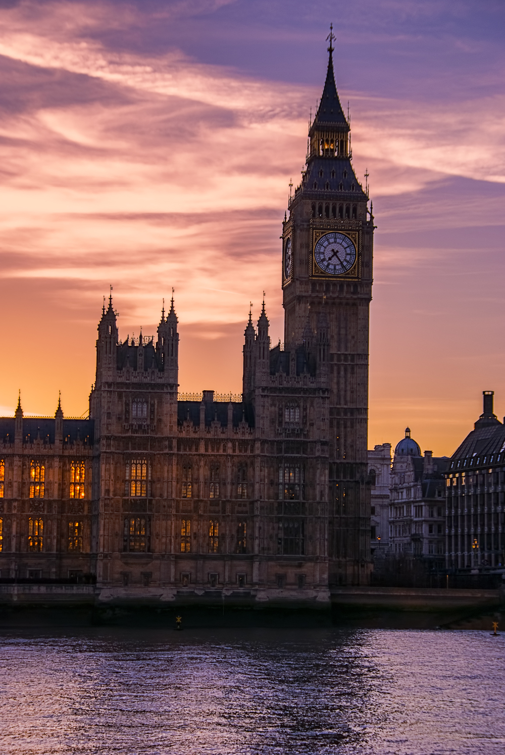 A stunning sunset over Big Ben!