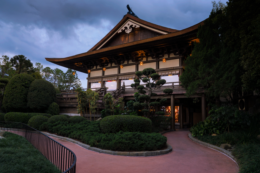AFter sunset there at the tori gate, I turned around and got this shot of the main building in the Japanese Pavilion.