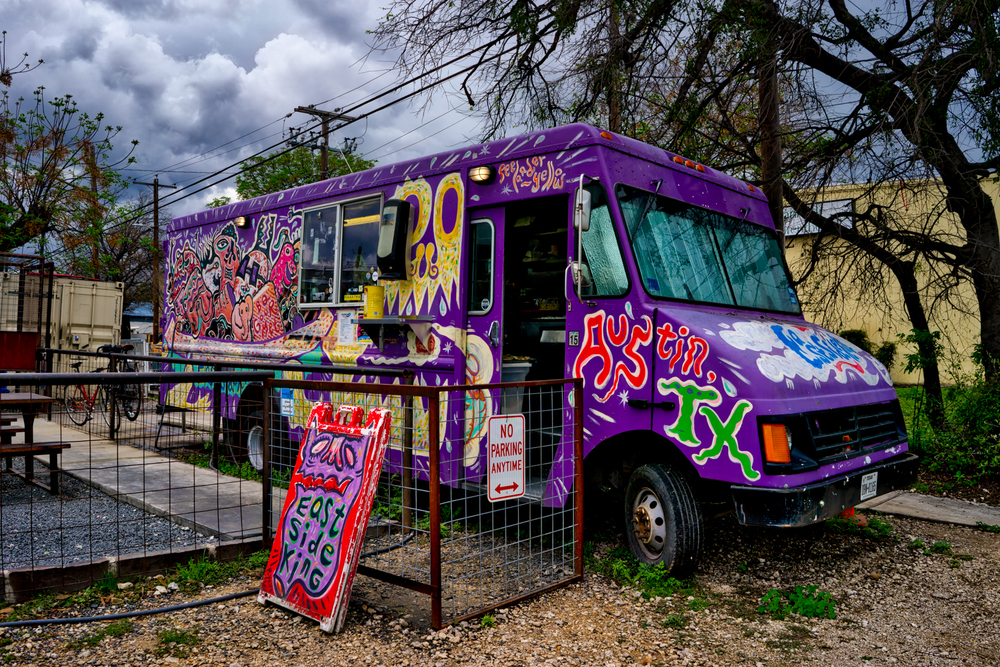 East Side King food truck - pretty hard to resist shooting this!