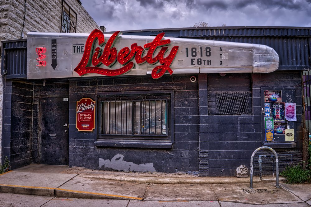The Liberty Bar on East 6th Street in Austin