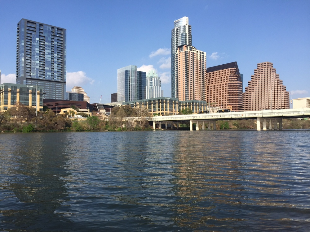 A shot of the Austin skyline, with no lens attached