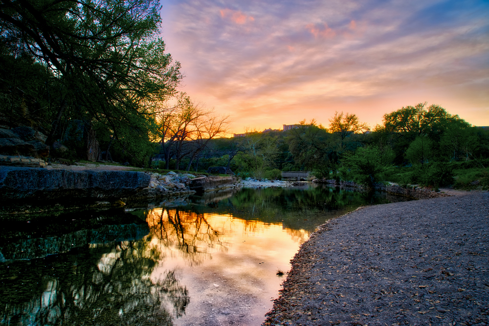 3 exposure HDR, f/11, tripod, ISO 100, 24mm   --  BULL CREEK GREENBELT, AUSTIN, TEXAS