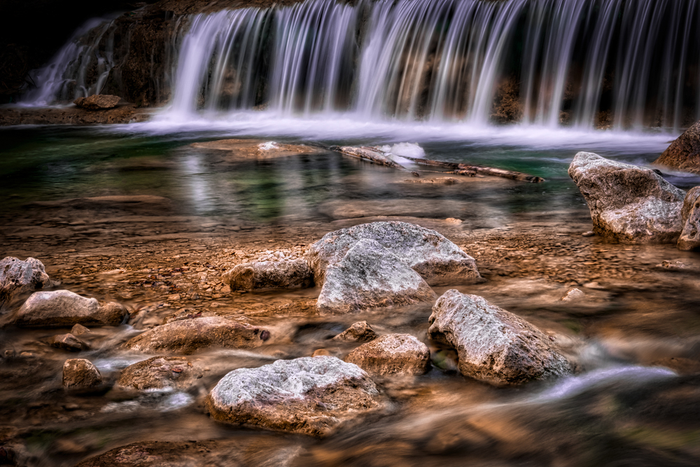 3 exposure HDR, f/22, tripod, ISO 100, 70mm  --  Bull Creek Greenbelt, Austin, Texas
