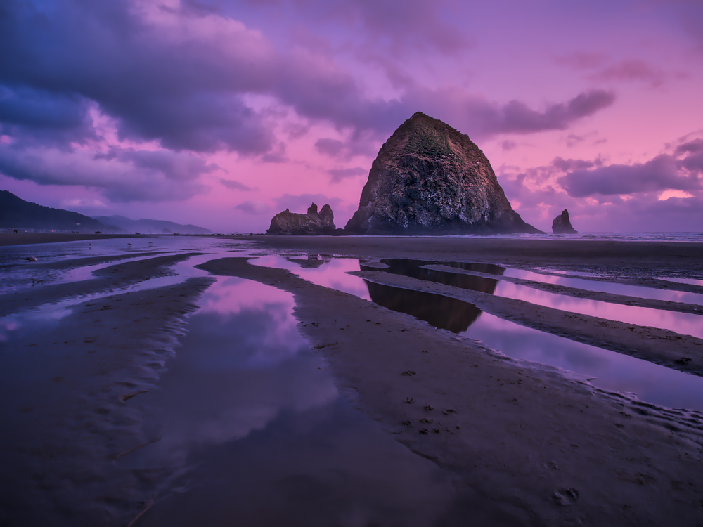 Twilight at Haystack Rock - Cannon Beach, OR