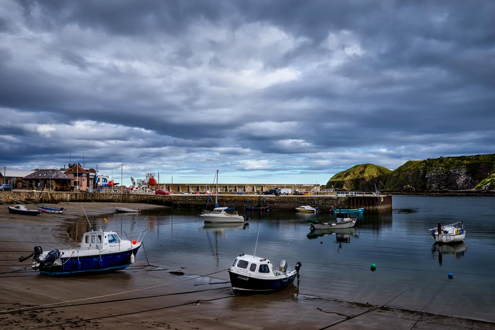 The harbor in Stonehaven, Scotland