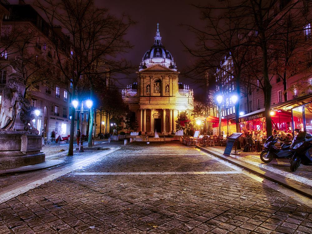 Evening at The Sorbonne - Paris, France