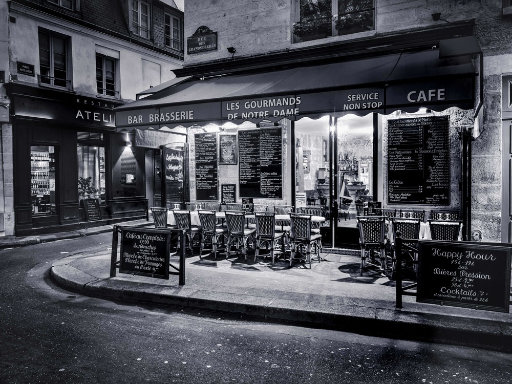 A cafe I came across one evening in Paris