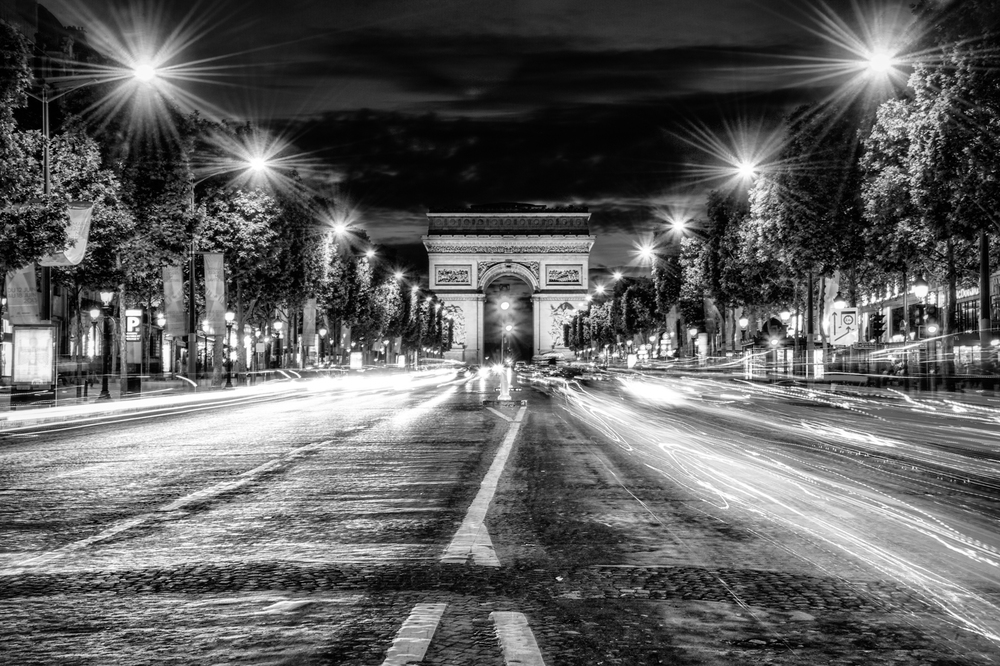 Standing in the middle of the Champs Elysees one evening, with cars racing by - yeah, probably not safe.