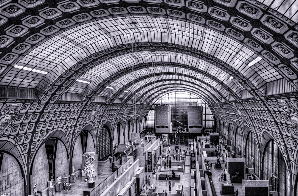 Inside the Musee d'Orsay, which is a fabulous museum and which was once a train station.  So beautiful there!