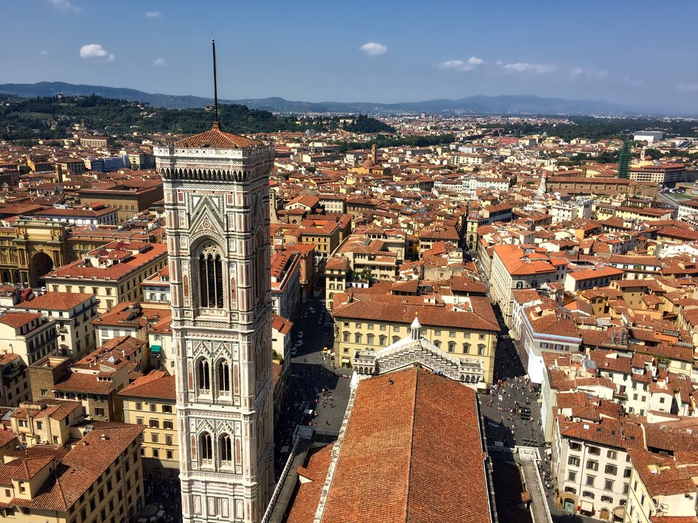 The view from atop The Duomo
