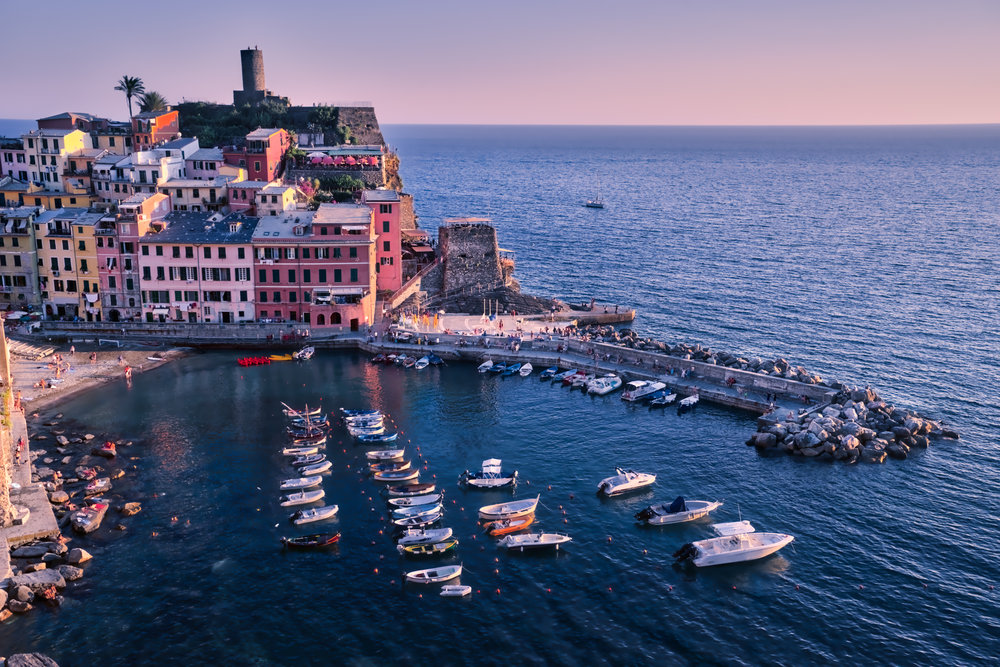 Days' end in Vernazza
