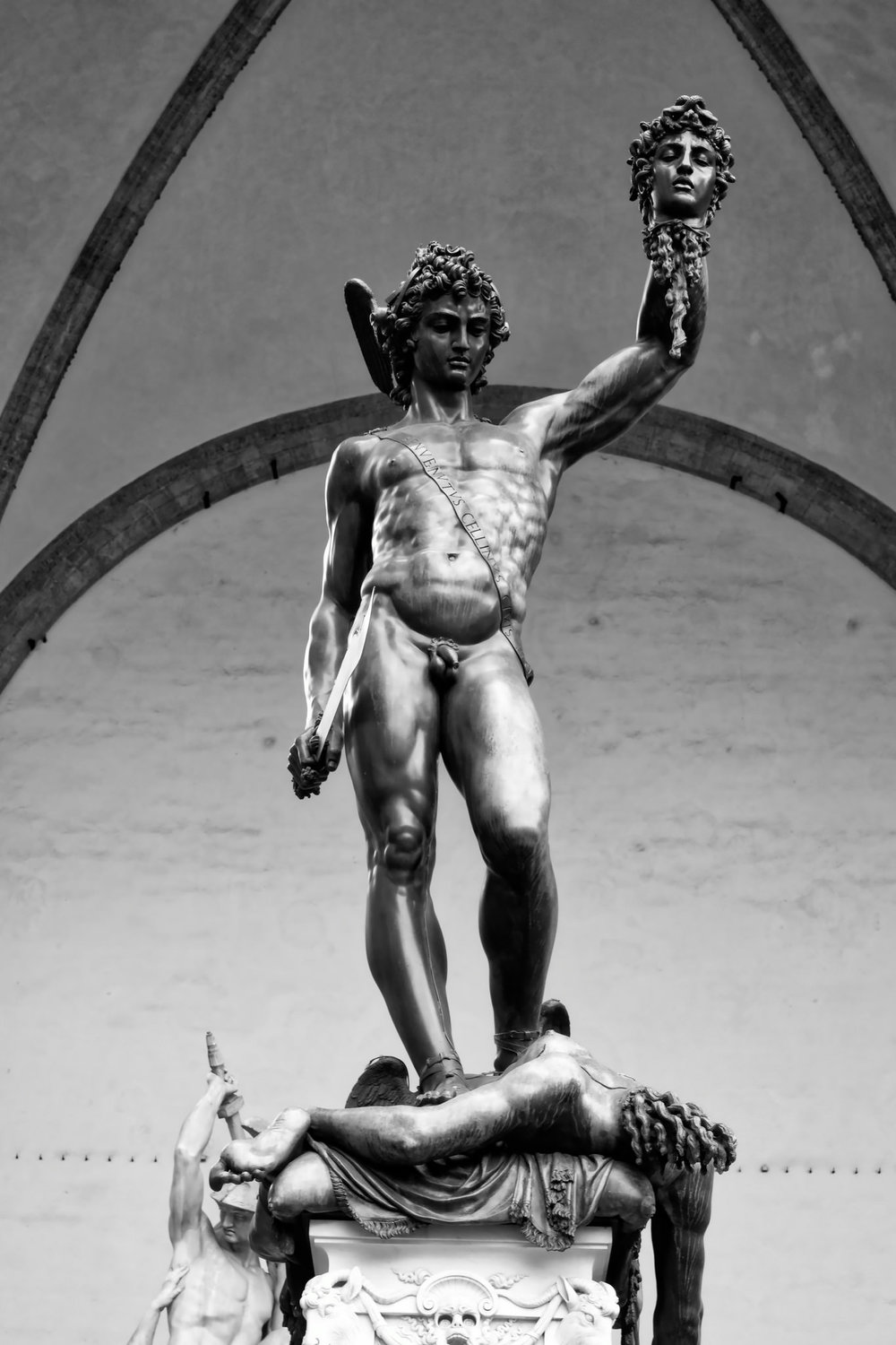A sculpture of Perseus in Florence
