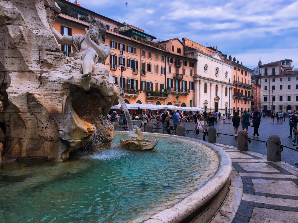 An iPhone image from Piazza Navona in Rome