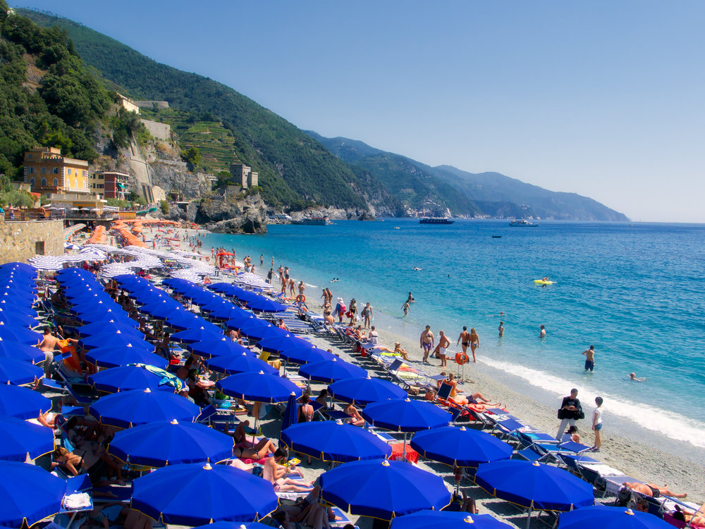 The beach in Monterroso al Mare, which was quite fun to spend a day on!