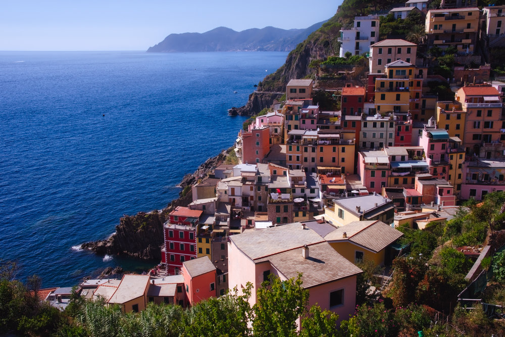 The view from our kitchen window in the apartment we rented in Riomaggiore.