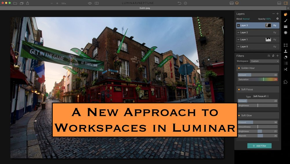 Create Workspaces For Specific Functions, Not Photo Types, And Then Stack  The Workspaces For Ultimate Control.