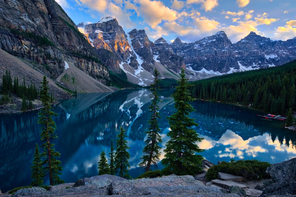 Photo collection sunset at moraine lake - Sunset small spaces collection ...