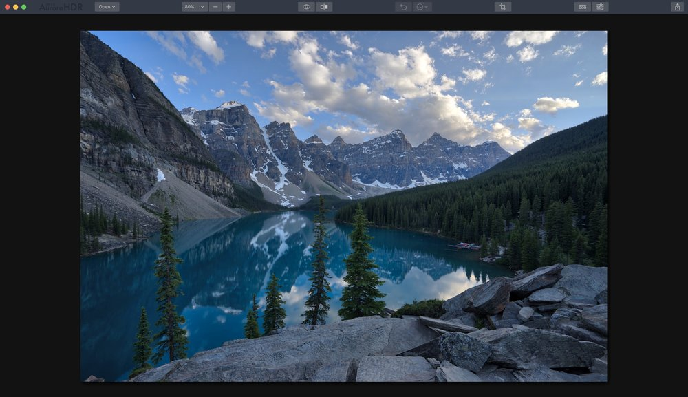 This is the base HDR photo after importing, with no adjustments. So natural and realistic!