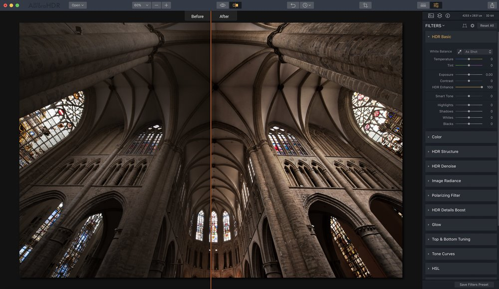 HDR Enhance gives rich details and textures to a photo.