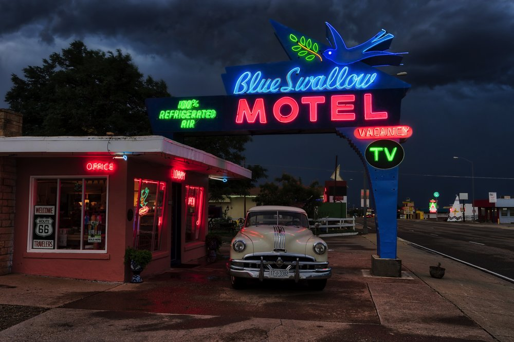 The amazing Blue Swallow Motel in Tucumcari, NM