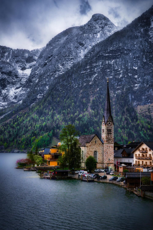 Austria-Hallstatt-church-HDR-lakeview.jpg