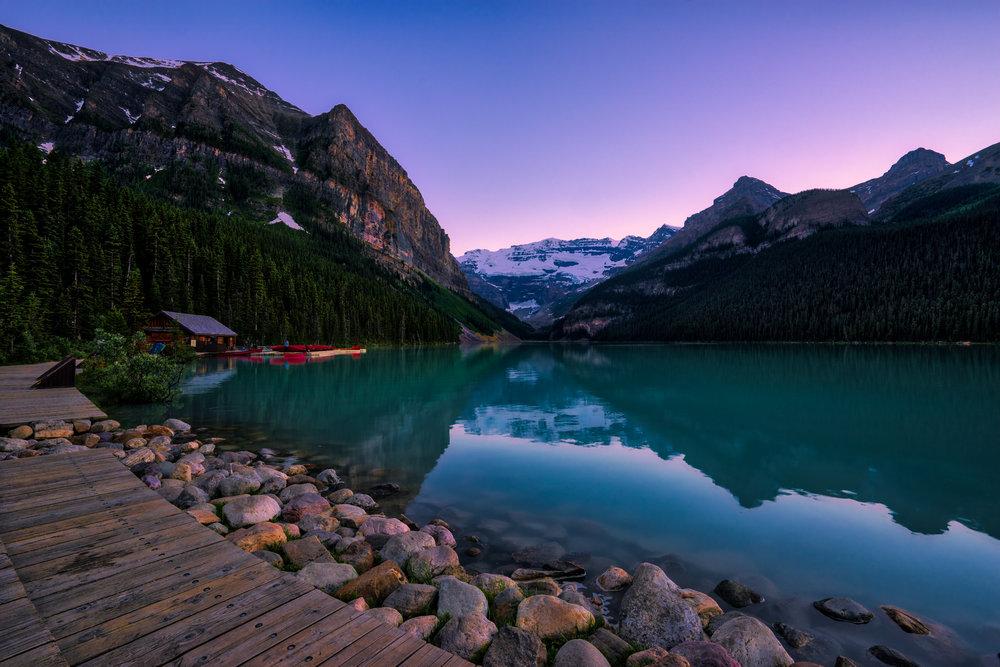 Canada-Lake-Louise-sunset-HDR-deck1.jpg