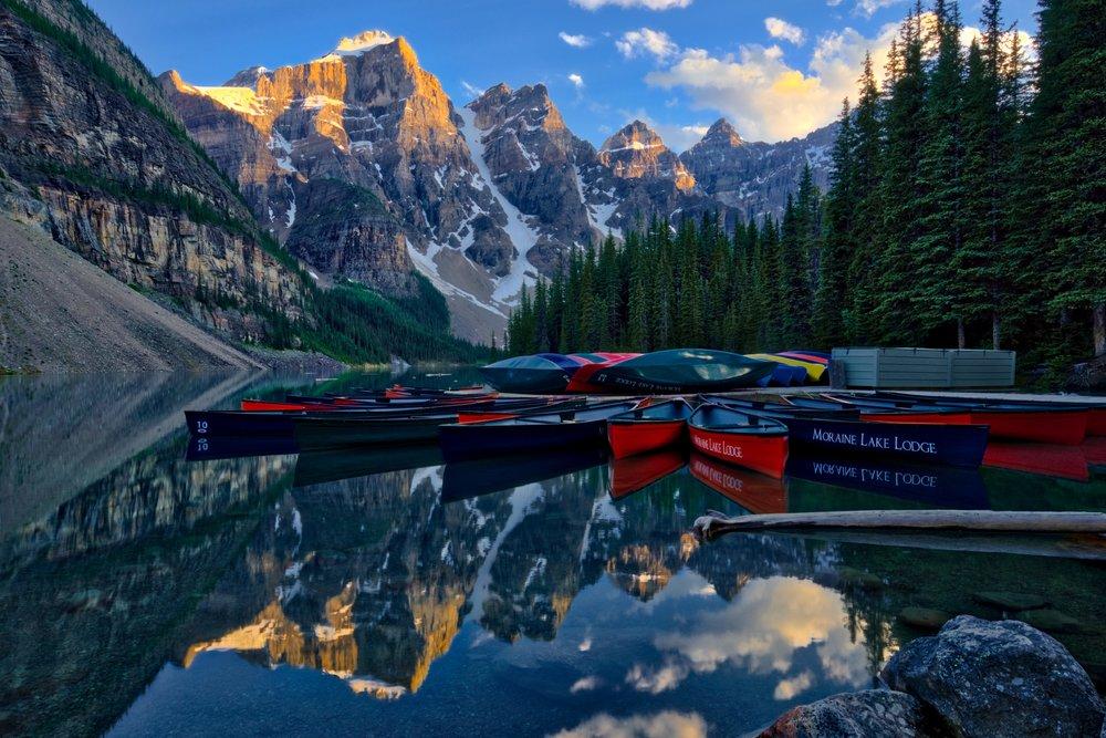 Canada-Moraine-Lake-canoes-sunset-HDR-1.jpeg