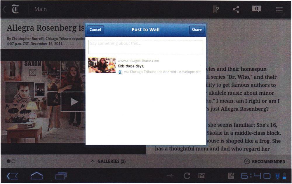 Sharing Interface