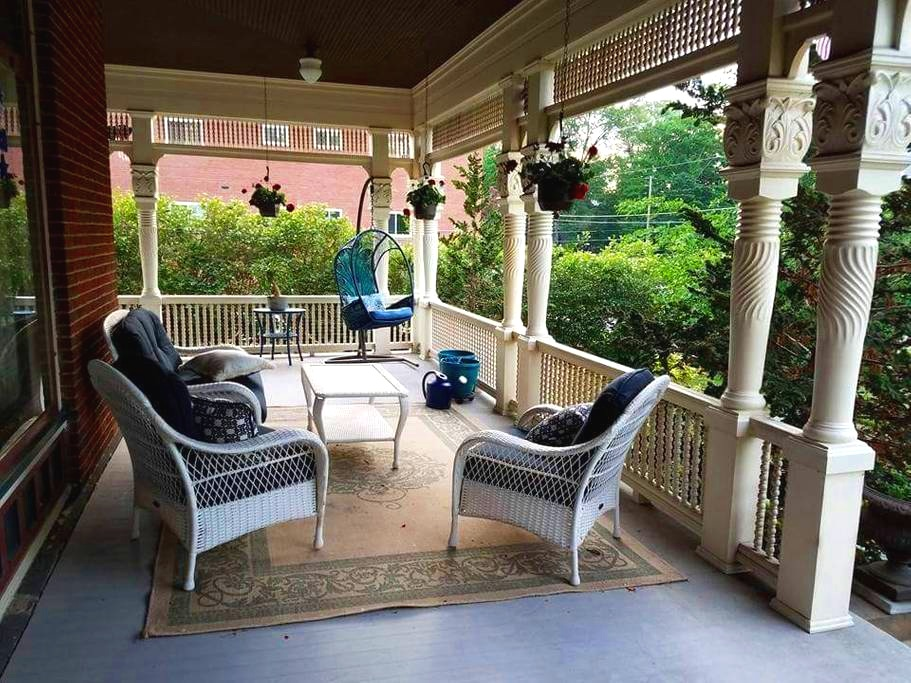 Wraparound porches.