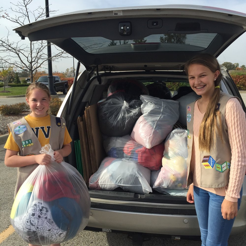 Thanks to these Girl Scouts, Noblesville kids stayed warm this past winter. THANK YOU!