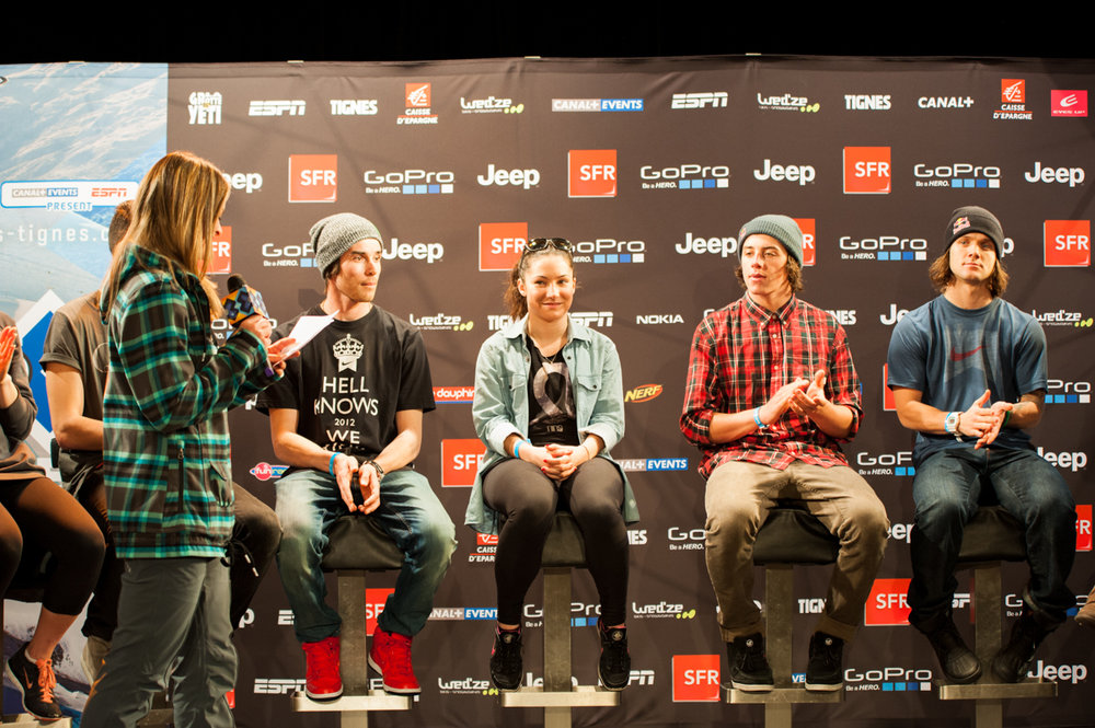The X Games - Tignes Media conference