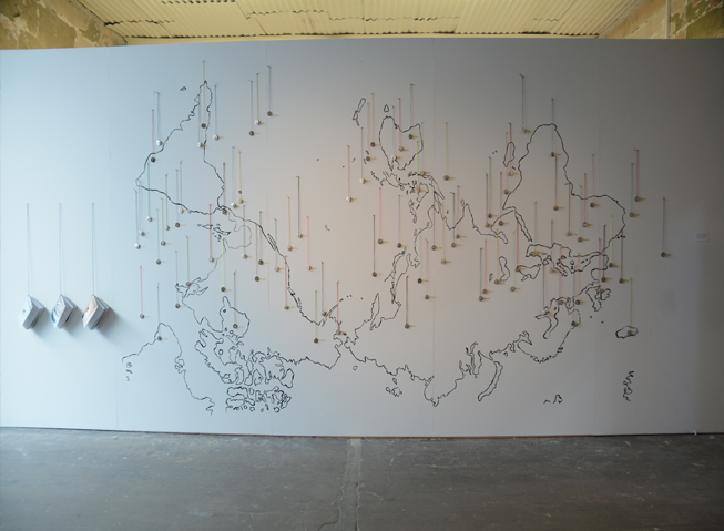 All the stories gathered since 2012, and cast pendants collected in Denmark, Sweden, South Africa, China, France, and Australia were exhibited in the SGA Galleries, Sydney Collage of the arts.