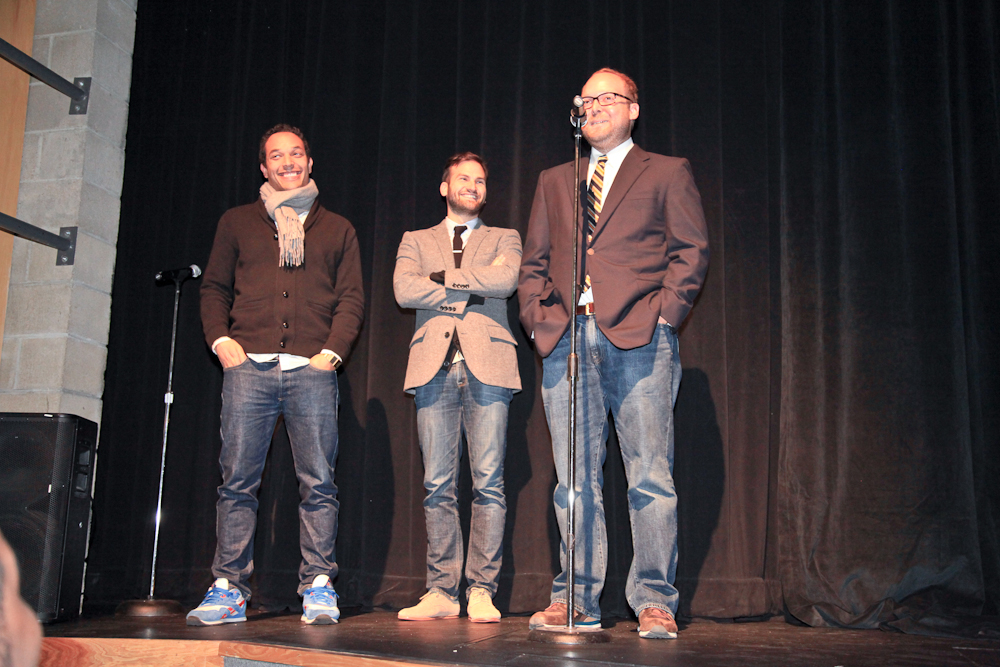 Directors JT Martin and Dan Lindsay with producer Rich Middlemas at Indie Memphis 2011's Opening Night screening of Undefeated, which went on to win the festival's Audience Award for Documentary Feature - and then an Oscar at the 2012 Academy Awards. Photo by Sallie Sabbatini.