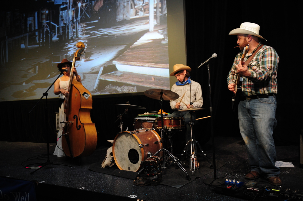 Amy LaVere and her band performing in-theatre before the Indie Memphis 2012 screening of Red Flag. Photo by Brian Anderson.