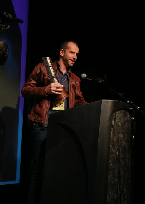Director Matteo Servente, winner of the Best Hometowner Narrative Short and MLK50 Hometowner Short