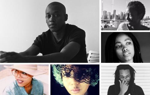 2018 Indie Memphis Black Residency Finalists: Alex Huggins (winner),Ama Quao,Amanda Layne Miller,Natalie Frazier,Jeri Hilt, and Jon-Carlos Evans