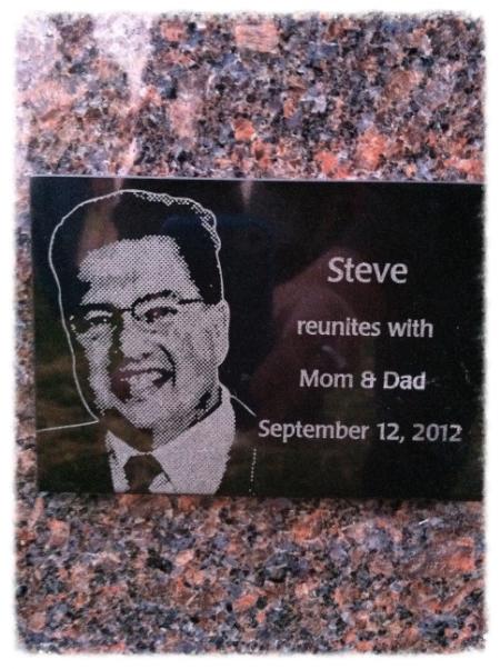 Steve Memorial Stone.JPG