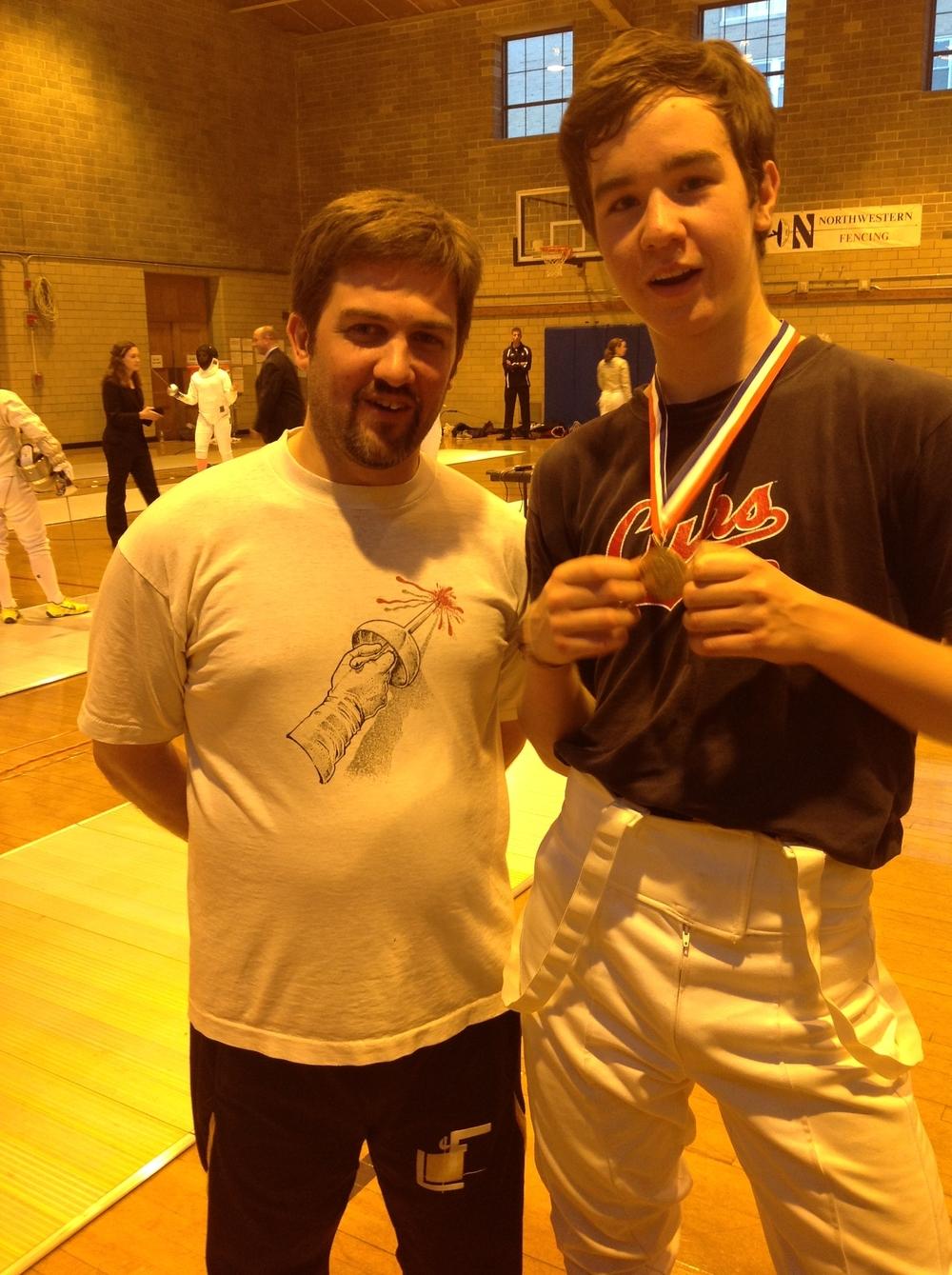 Jamie's 1st medal - Gold in Cadet Foil!